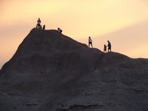Climbing in Badlands National Park
