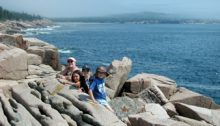 Enjoying the Rocky Coast at Acadia National Park, Maine, USA